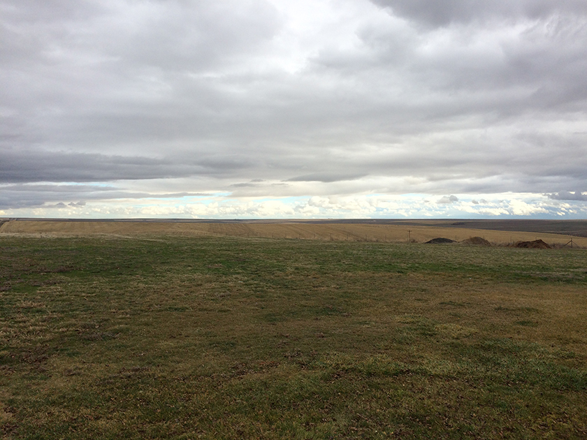Flat fields in Eastern Washington.